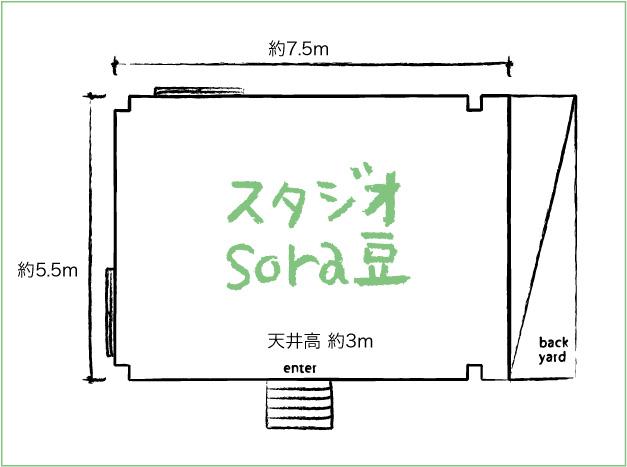 スタジオsora豆見取り図